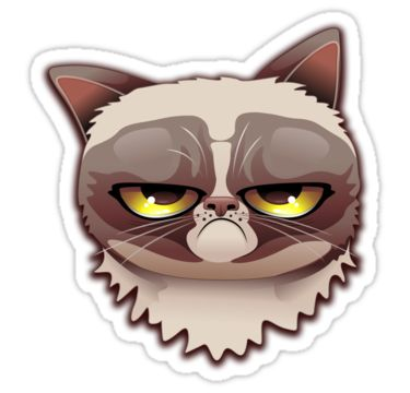 Grumpy Cat clipart impressed #1