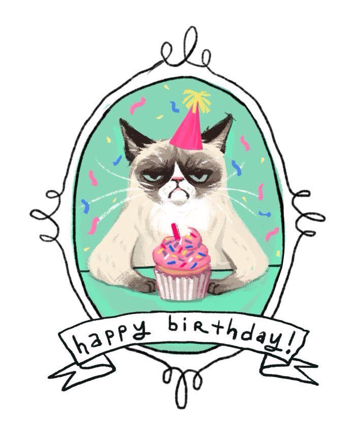 Drawn card grumpy cat #4
