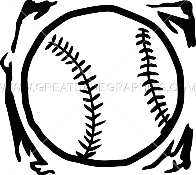 Grundge clipart baseball Baseball Shirt Production Baseball for