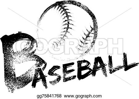 Grundge clipart baseball Illustration through Baseball over streaks