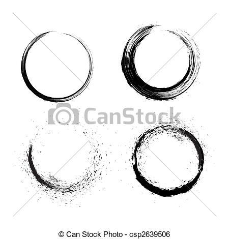 Grundge clipart circle Brushes of circle Grunge
