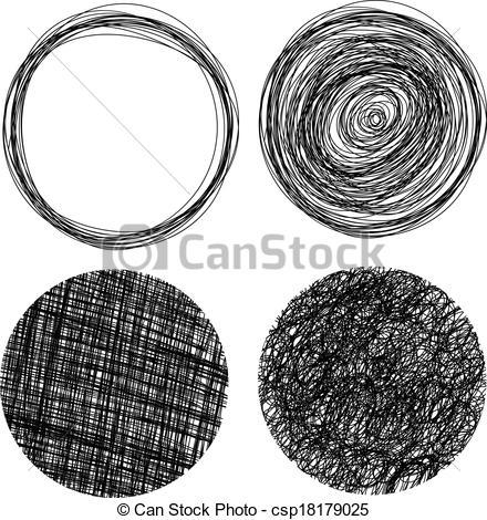 Grundge clipart circle Drawn Vector circles Illustration csp18179025
