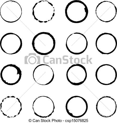 Grundge clipart circle Vector circle brush of for