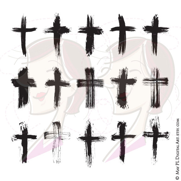 Grundge clipart cross Rustic Card Scrapbook Catholic Clipart