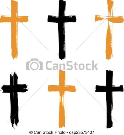 Grundge clipart cross Grunge of Set drawn collectio