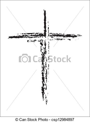Grundge clipart filter Csp12984897 And  Cross White