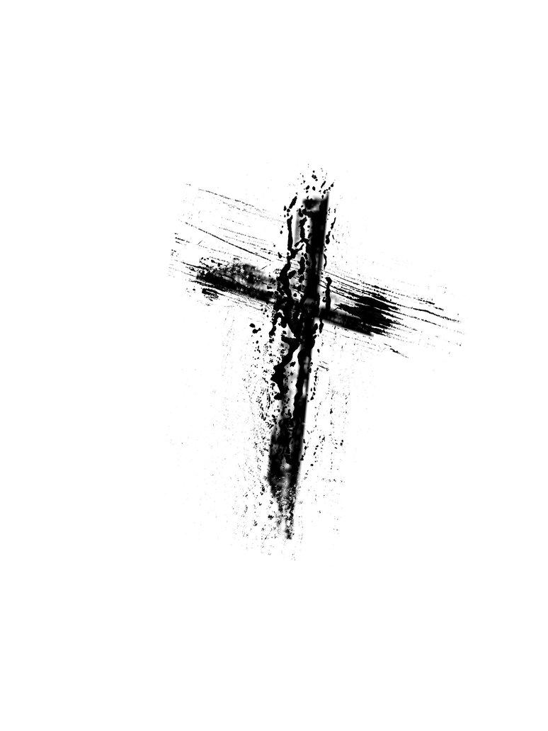 Grundge clipart cross Lenten Free Download Words Catholic