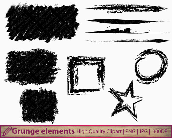 Square clipart distressed Clipart design strokes distressed frames