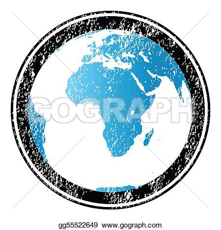 Grundge clipart globe Grunge Rubber stamp Stock Illustration