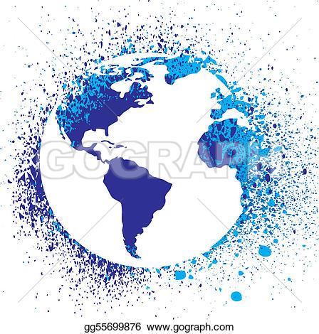 Grundge clipart globe Drawing Globe splatter Art Globe