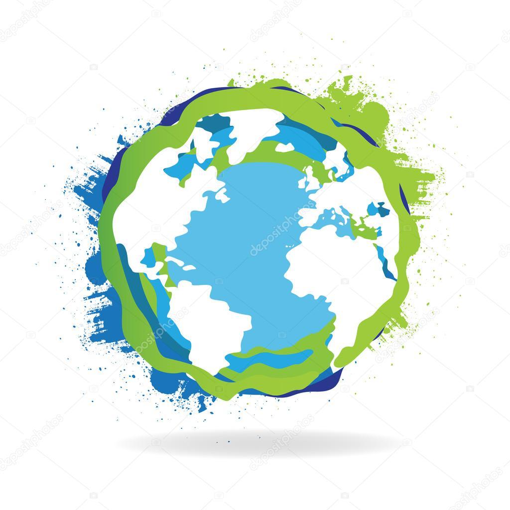 Grundge clipart globe © World — Grunge World