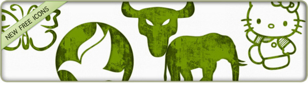 Grundge clipart green Icons Animals Clipart Icons Green