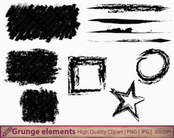 Grundge clipart grung Distressed Grunge Etsy frames strokes