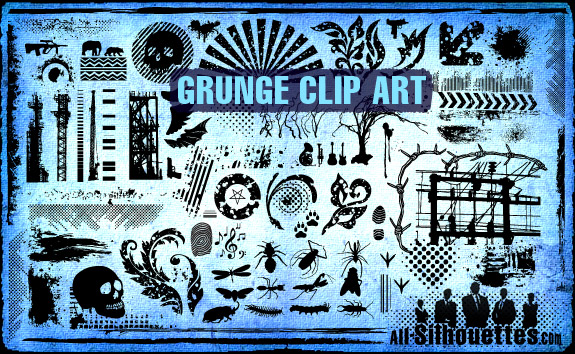 Grunge clipart Free Grunge Vector Silhouettes All