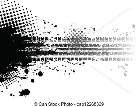 Grundge clipart baseball Tire Grunge background tracks csp12268369