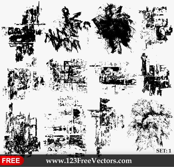 Grundge clipart grunge vector Grunge Vector Set Free Texture