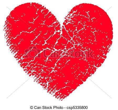 Grundge clipart heart Csp5335800 vector heart vector Red