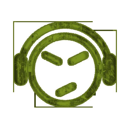 Grundge clipart music headset Shapes Music) » grunge Icon