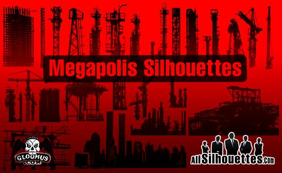 Grundge clipart oil field Cityscape Silhouettes Vector Cityscape Grunge
