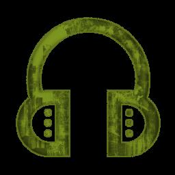 Grundge clipart phone headset Earmuff »  Green Clipart