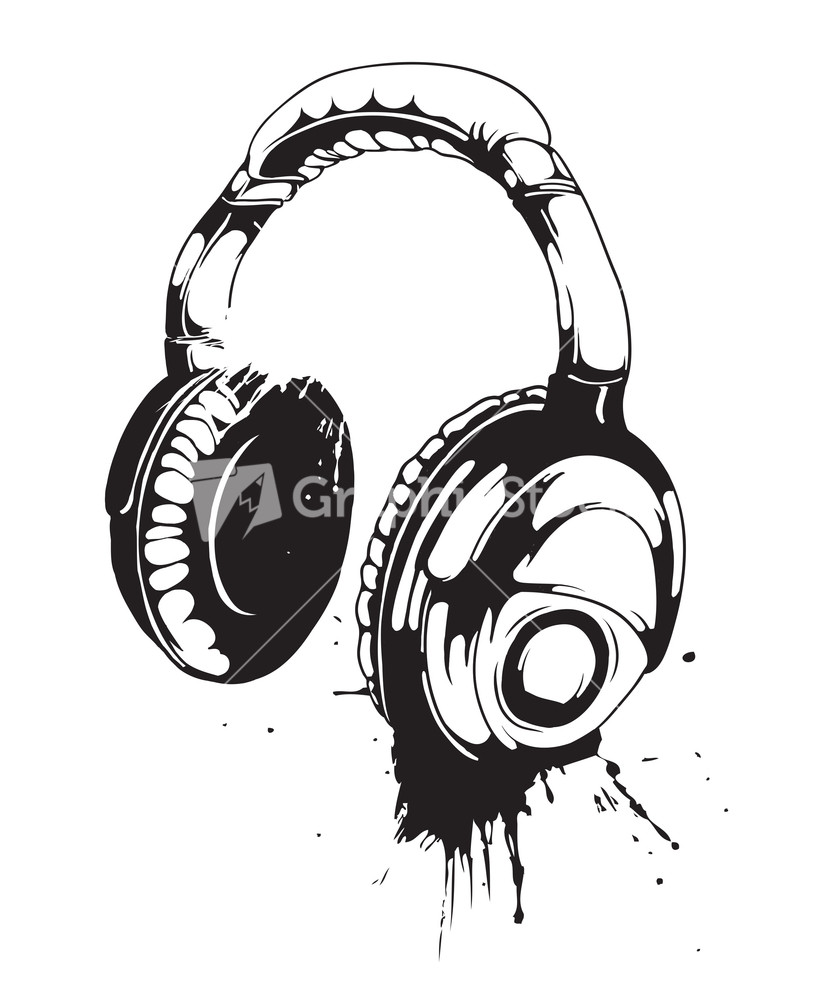 Grundge clipart phone headset Headphones  Image Grunge With