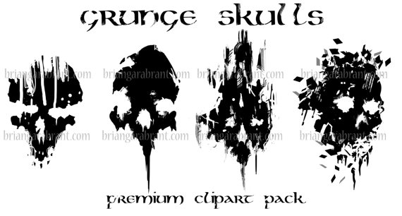 Grundge clipart skull ClipArtSource Skulls Studio File; Scrapbooking