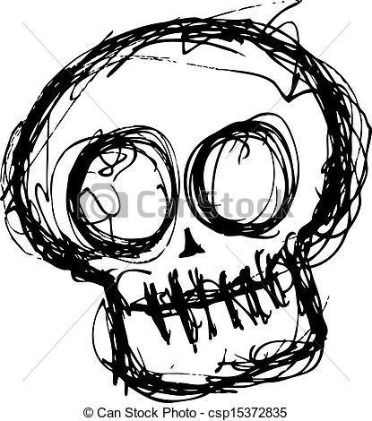 Grundge clipart crowded person Skull grunge csp15372835 skull cute