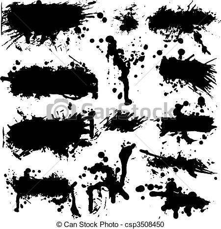 Grundge clipart splatter Clipart of Collection  Set