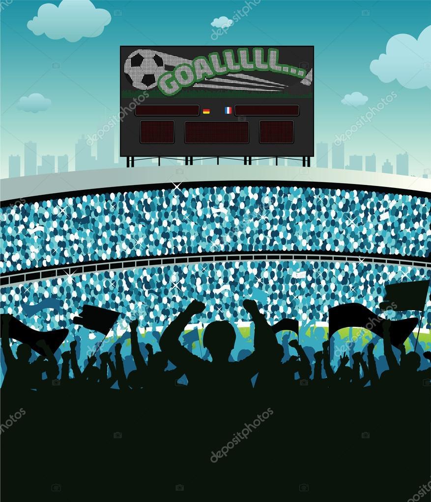 Grundge clipart stadium crowd Istanbul Stock any soccer ©
