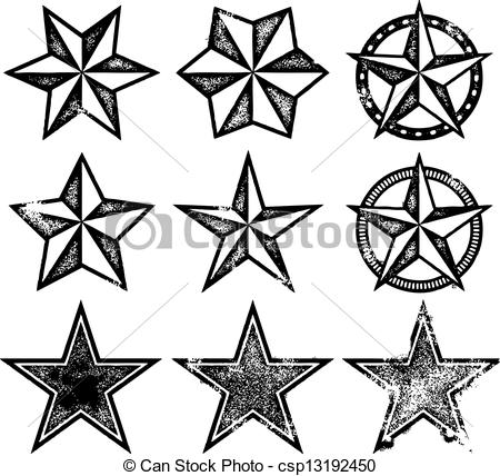 Grundge clipart star Collection Stars vintage Vector Vector