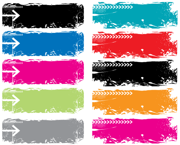 Grundge clipart text banner Free Grunge Colorful Grunge Free