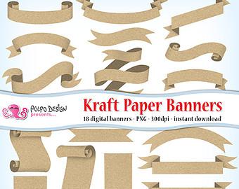 Grundge clipart text banner Art paper Kraft Use Commercial