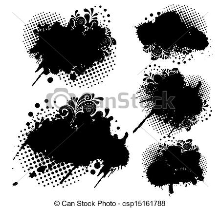 Grunge clipart  set dots Clip Illustrations