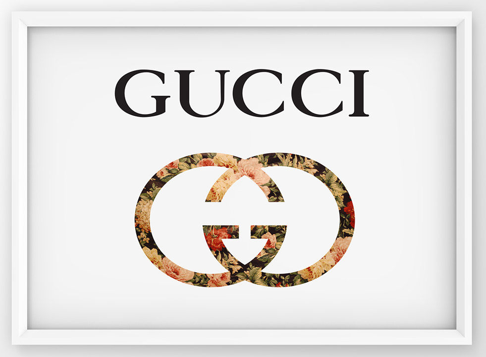 Gucci clipart Poster Etsy Gucci Decor Girly