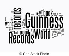 Guinness clipart black and white And world text on