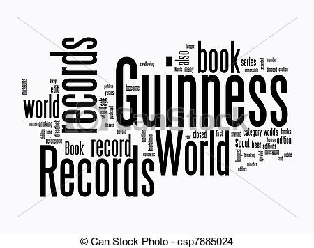 Guinness clipart black and white Record world clipart Guinness record