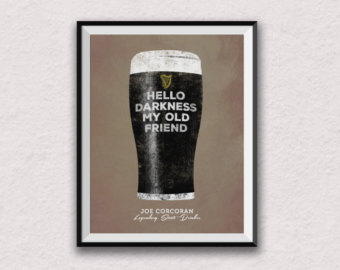 Guinness clipart guinness stout Guinness art print poster print