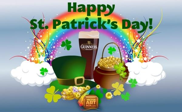 Guinness clipart leprechaun Vector Saint Free vector (11