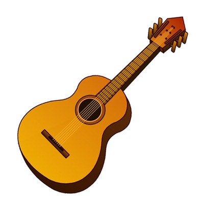 Background clipart guitar #7