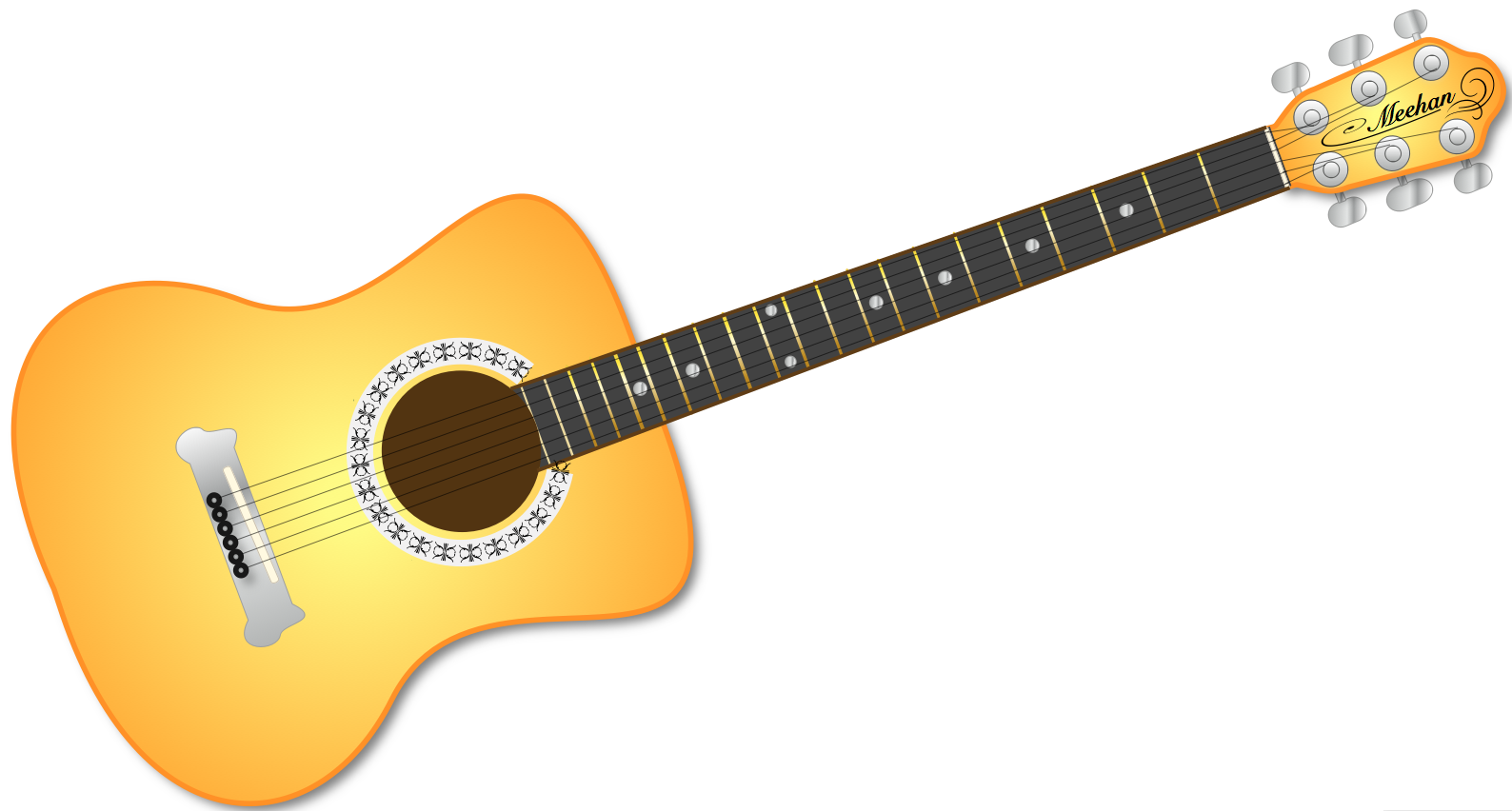 Background clipart guitar #6
