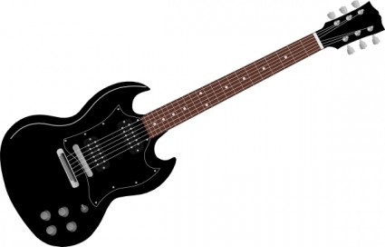 Guitar clipart Black Panda And Electric