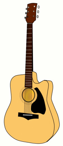 Guitar clipart Music Graphics Guitar accoustic Free