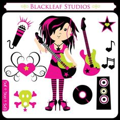 Technics clipart Pink GUITAR CLIPART Use and