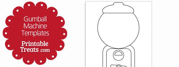 Gumball clipart empty Gumball Treats Machine Template com