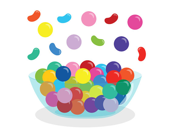 Jelly Bean clipart candy Candy Commercial Gumballs Shop Bowl