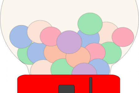 Gumball clipart red Gum machine of gum bubble