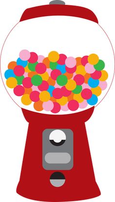 Gumball clipart red Free clip machine gumball Doces