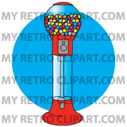Gumball clipart red Gumball Balls Of Colorful Red