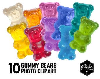 Gummy Bear clipart Use Etsy clipart bear commercial