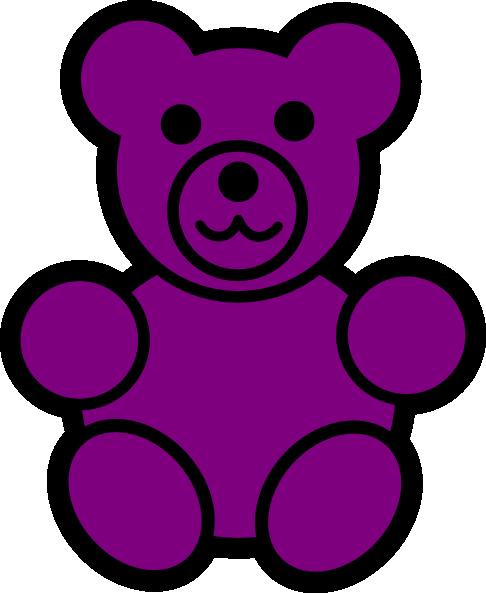 Teddy clipart gummy bear Clip  as: Purple Bear
